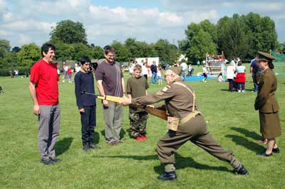 The Home Guard tried (in vain) to drill some of the visitors
