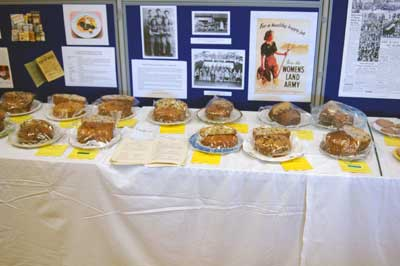 There was a special Domestic Class for cakes made to a wartime recipe with many entrants.